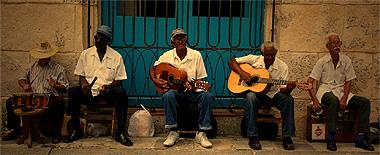 ハバナで見た老演奏者たちの画像