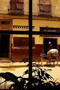 ハバナのカフェから撮影した景色