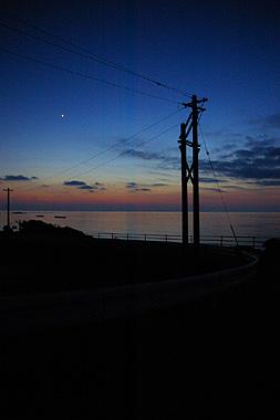 波照間島の宵闇時を撮影