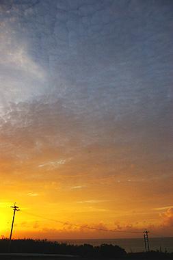 波照間島の夕焼けの画像