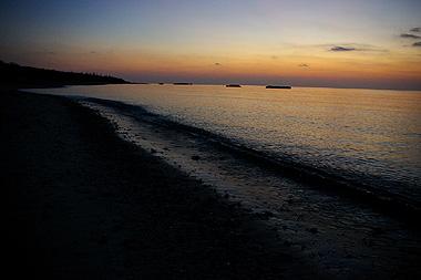 波照間島、ニシハマの夕暮れ時に撮影