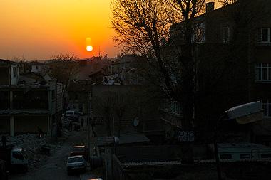 美しきトルコの夕日の画像