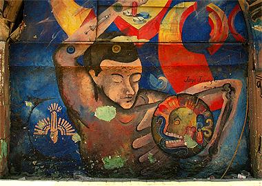 メキシコの壁画の画像