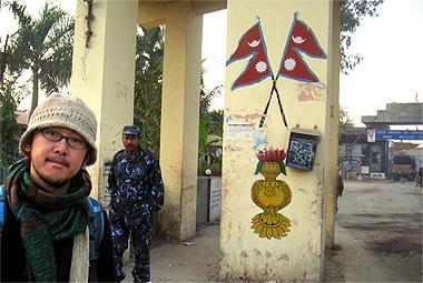 ネパール、インド間の国境の画像