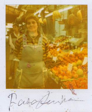 リスボンの果物屋さんの画像