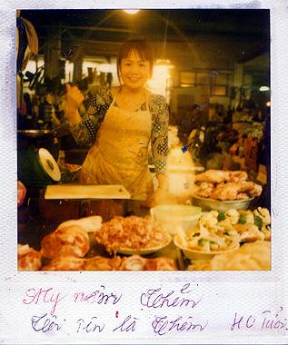 ベトナムの肉屋おばさんの画像