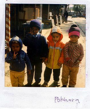 ポカラの子供達の画像