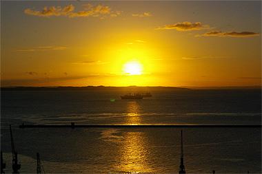 サルバドールの夕日の画像
