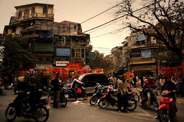 ベトナムのスクーター乗り達の画像