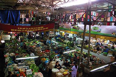 ハノイの市場