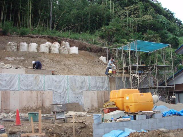 石積み現場