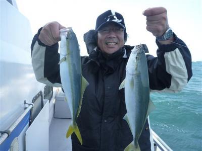 馬場サンメンバー真鯛にハマチ・カンパチ・大アジ大漁でした