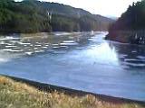 元旦のK湖、全面結氷・・・