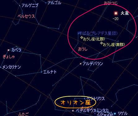 2005 おうし座流星群星図