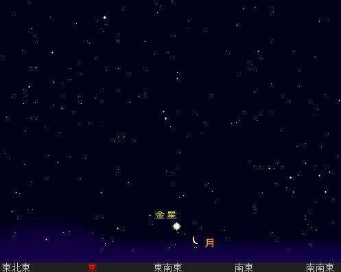 2006 3 26 金星と月