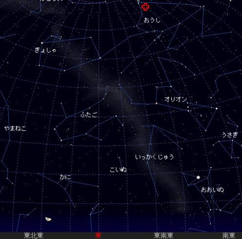 2006 11 13 おうし座流星群 北群星図