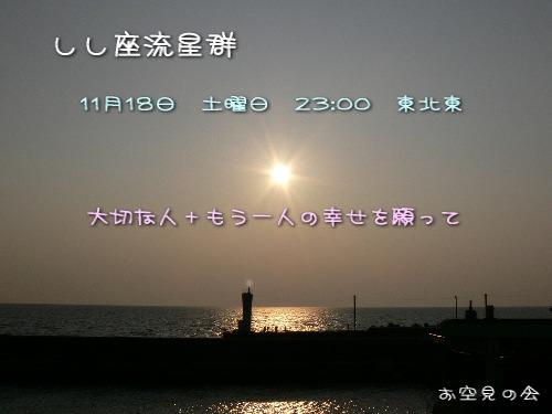 2006 11 18 しし座流星群カード
