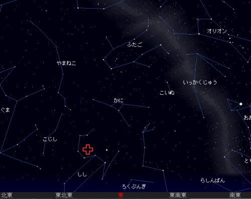 2006 11 18 しし座流星群01時星図
