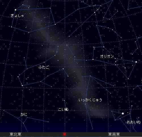2006 12 14 ふたご座流星群 星図