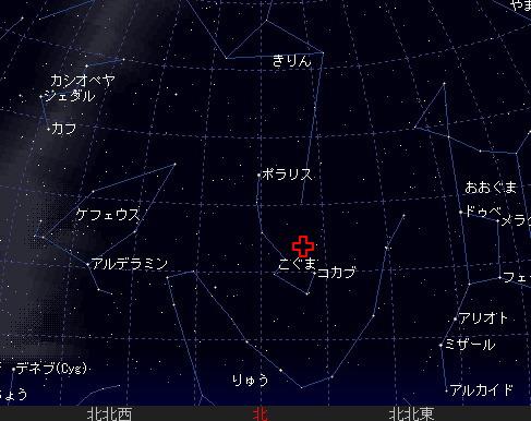 2006 12 22 こぐま座流星群 星図