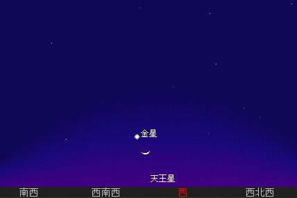 2007 2 19 生まれたての月と並ぶ星図2