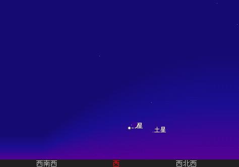 2007 7 17 宵の明星と三日月と 星図1