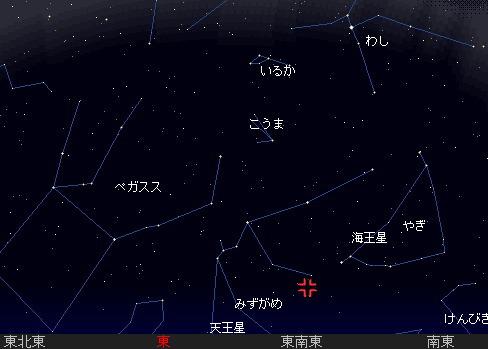 2007 8 4 みずがめ座ι流星群(南群)星図