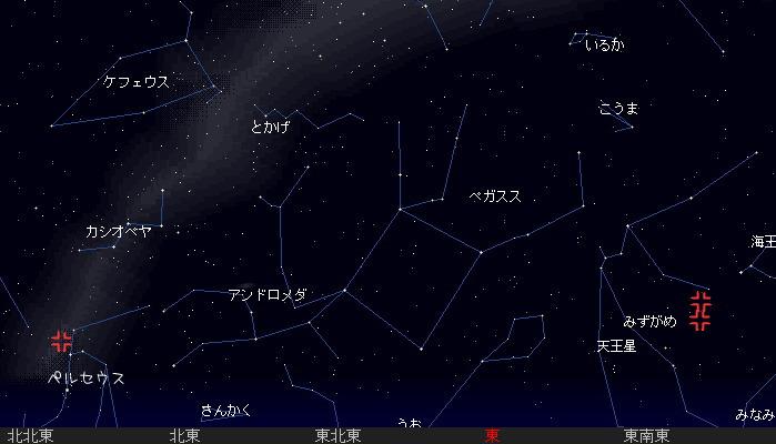 2007 8 12 みずがめ ペルセウス星図