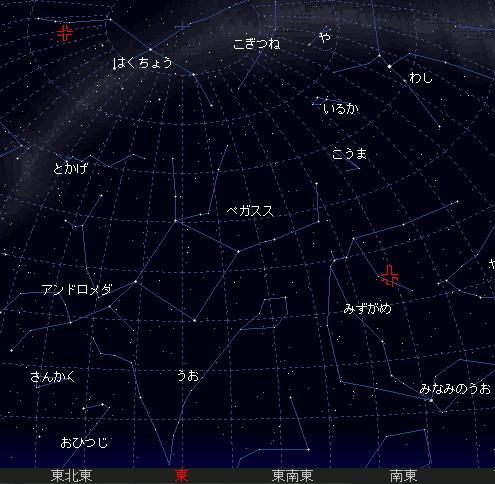 2007 8 20 みずがめ はくちょう座星図