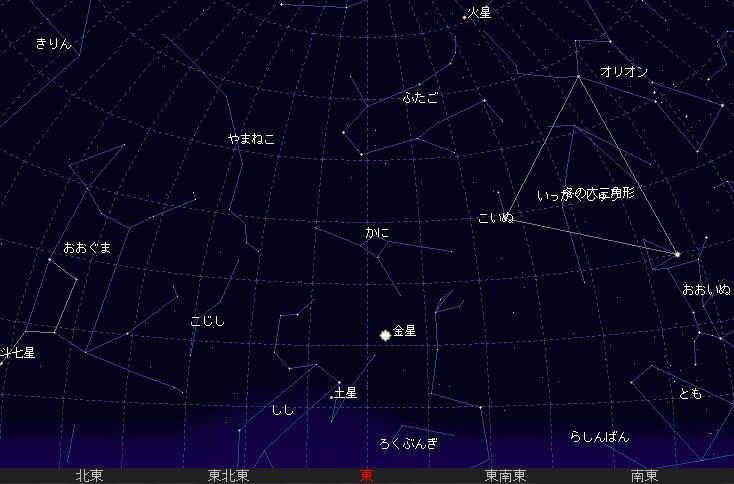 2007 9 24 金星が最大光度に星図