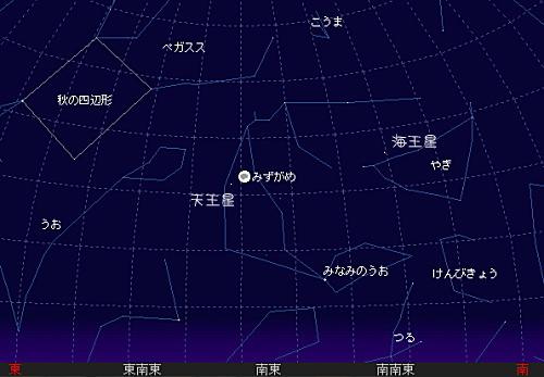 2007 9 25 中秋の名月星図