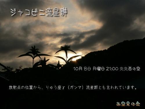 2007 10 8 ジャコビニ流星群