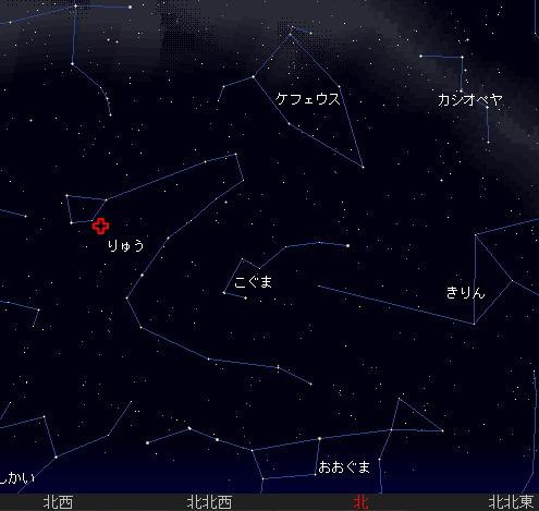 2007 10 8 ジャコビニ流星群 星図