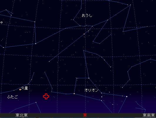 2007 10 21 オリオン座流星群星図