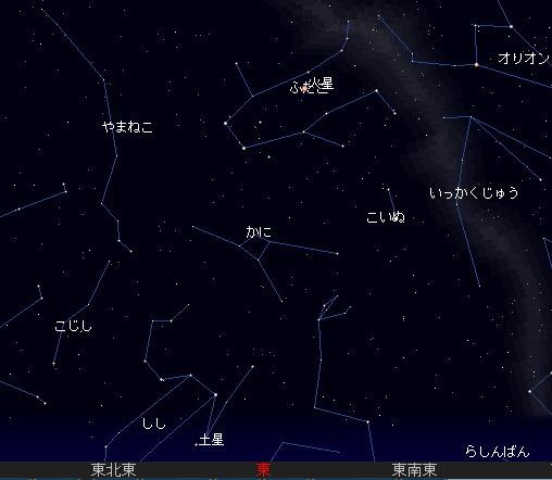 2007 11 18 しし座流星群星図