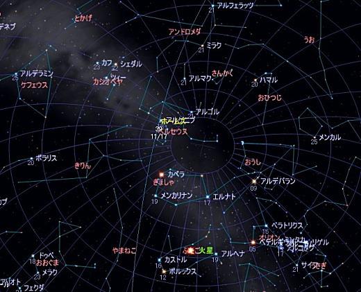 2007 11 18 しし座流星群星図 2