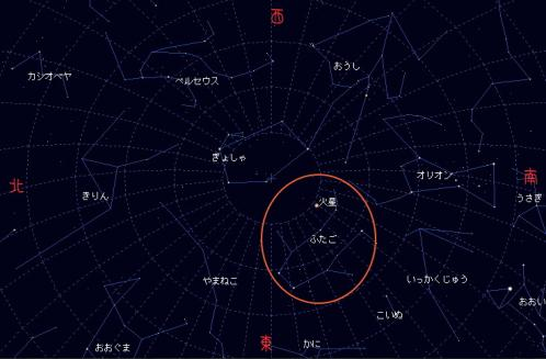2007 12 19 火星の最接近を楽しもう星図2