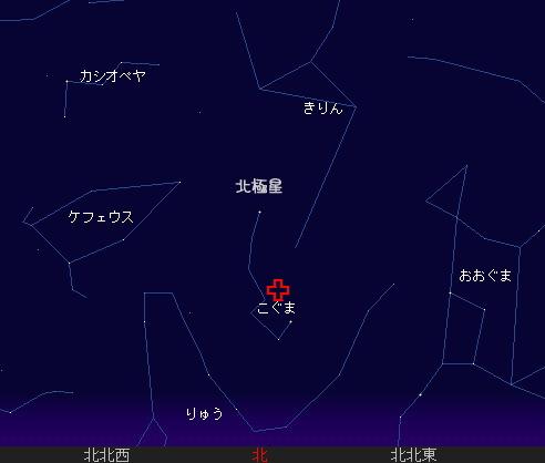 2007 12 23 こぐま座流星群星図