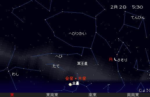 2008 2 1~5 早起きの空 2-2 星図1