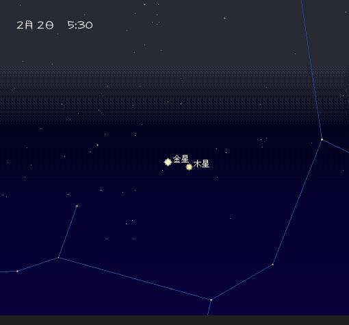 2008 2 1~5 早起きの空 2-2 星図2