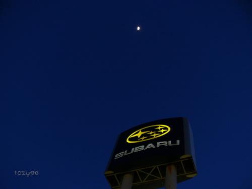 2008 3 15 上弦の次の月とスバル1