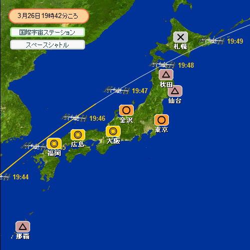 2008 3 22~29 スペースシャトル移動図