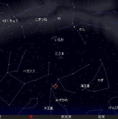 2008 5 6 みずがめ座η流星群星図