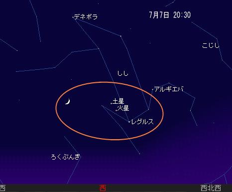 2008 7 7 七夕まつり星図1
