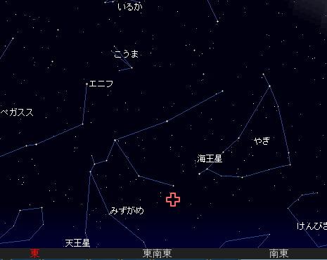 2008 8 6 みずがめ座ι流星群星図