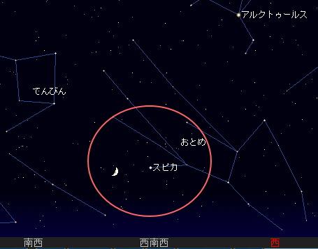 2008 8 7 旧暦の七夕まつり星図