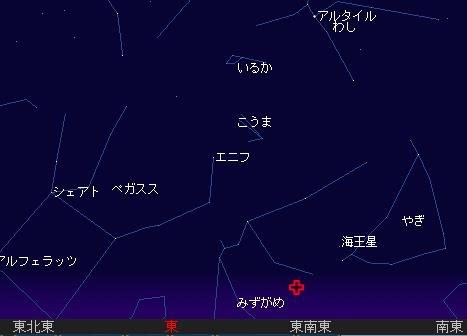 2008 8 11 みずがめ座δ流星群星図