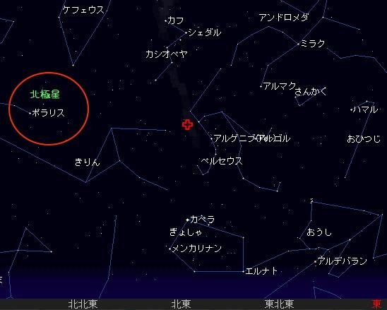 2008 8 12 ペルセウス座流星群星図2