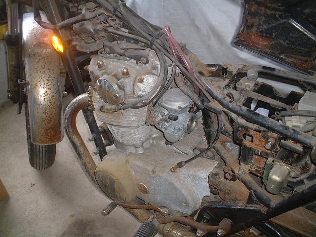 2009.5 TX650書類無し 、エンジン始動OK 003