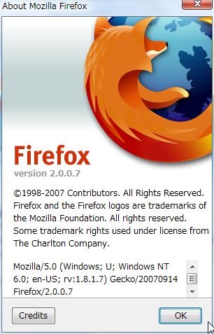 Firefox 2.0.0.7